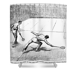 New York: Racket Club Shower Curtain by Granger