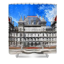 New York State Capitol Shower Curtain by Lanjee Chee