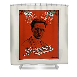 Newmann The Great - Vintage Magic Shower Curtain by War Is Hell Store