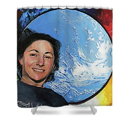 Nicole Stott Shower Curtain by Simon Kregar