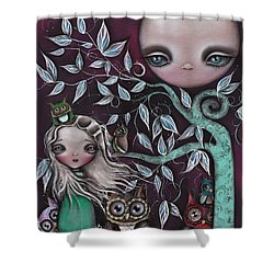 Night Creatures Shower Curtain by  Abril Andrade Griffith