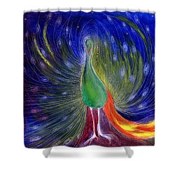 Night Of Light Shower Curtain by Nancy Moniz