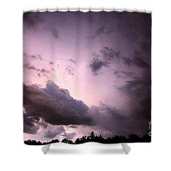 Night Storm Shower Curtain by Amanda Barcon