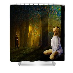Night Vision Shower Curtain by Van Renselar
