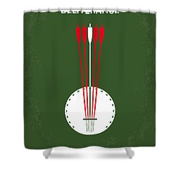 No020 My Deliverance Minimal Movie Poster Shower Curtain by Chungkong Art