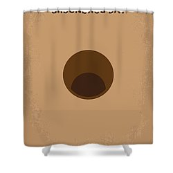 No031 My Groundhog Minimal Movie Poster Shower Curtain by Chungkong Art