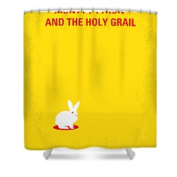 No036 My Monty Python And The Holy Grail Minimal Movie Poster Shower Curtain by Chungkong Art