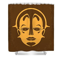 No052 My Metropolis Minimal Movie Poster Shower Curtain by Chungkong Art