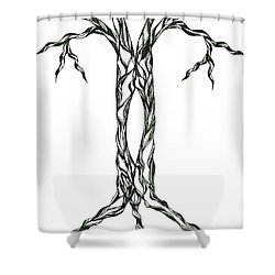 No.17 Shower Curtain by Robert Nickologianis