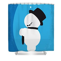No172 My Knick Knack Minimal Movie Poster Shower Curtain by Chungkong Art