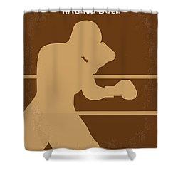 No174 My Raging Bull Minimal Movie Poster Shower Curtain by Chungkong Art