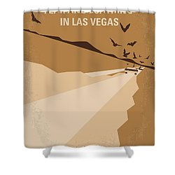 No293 My Fear And Loathing Las Vegas Minimal Movie Poster Shower Curtain by Chungkong Art