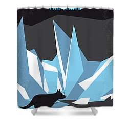 No466 My The Thing Minimal Movie Poster Shower Curtain by Chungkong Art