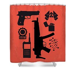 No453 My Die Hard Minimal Movie Poster Shower Curtain by Chungkong Art