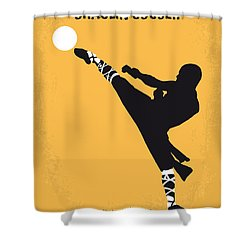 No480 My Shaolin Soccer Minimal Movie Poster Shower Curtain by Chungkong Art