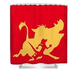 No512 My The Lion King Minimal Movie Poster Shower Curtain by Chungkong Art