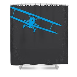 No535 My North By Northwest Minimal Movie Poster Shower Curtain by Chungkong Art