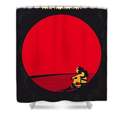 No620 My The Martian Minimal Movie Poster Shower Curtain by Chungkong Art