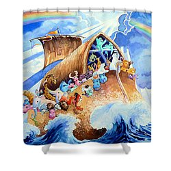 Noahs Ark Shower Curtain by Hanne Lore Koehler