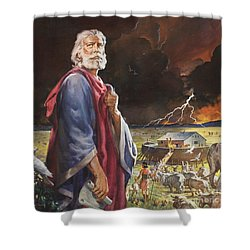 Noah's Ark Shower Curtain by James Edwin McConnell