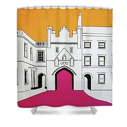 North Bar Shower Curtain by Oliver Johnston