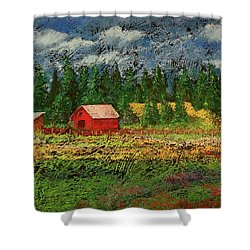 North Idaho Farm Shower Curtain by David Patterson