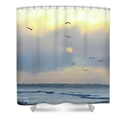 North Wildwood Beach Shower Curtain by Bill Cannon