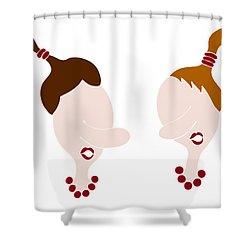 Nosy Girls Shower Curtain by Frank Tschakert