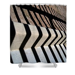 Not A Zebra Shower Curtain by Susanne Van Hulst