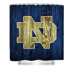 Notre Dame Barn Door Shower Curtain by Dan Sproul
