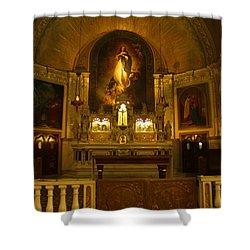 Notre-dame-de-bon-secours Chapel Shower Curtain by Deborah Benoit
