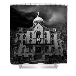 Notre Dame University Black White 3a Shower Curtain by David Haskett