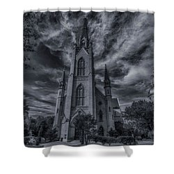 Notre Dame University Church Shower Curtain by David Haskett
