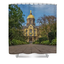 Notre Dame University Q Shower Curtain by David Haskett