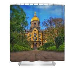 Notre Dame University Q2 Shower Curtain by David Haskett