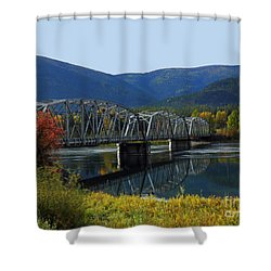 Noxon Bridge Shower Curtain by Tonya P Smith