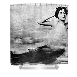 Nude As Mermaid, 1890s Shower Curtain by Granger
