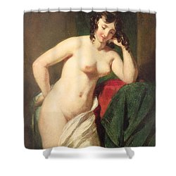 Nude Shower Curtain by William Etty