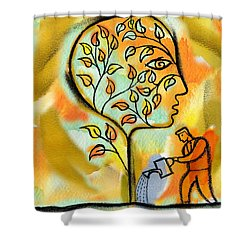 Nurturing And Caring Shower Curtain by Leon Zernitsky