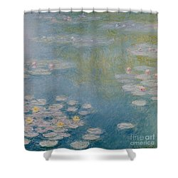 Nympheas At Giverny Shower Curtain by Claude Monet