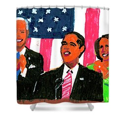 Obama's State Of The Union '10 Shower Curtain by Candace Lovely