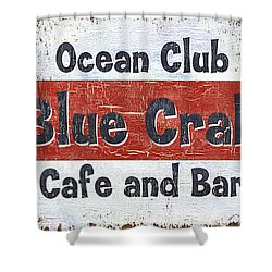 Ocean Club Cafe Shower Curtain by Debbie DeWitt