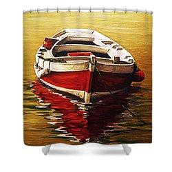 Ocre S Sea Shower Curtain by Natalia Tejera