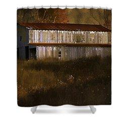 October Barn Shower Curtain by Ron Jones