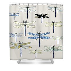 Odonata Shower Curtain by Sarah Hough