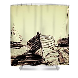 Of Different Eras Shower Curtain by Meirion Matthias