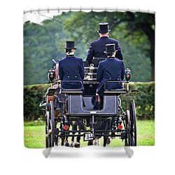 Of More Gentile Times Shower Curtain by Meirion Matthias