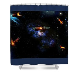 Off The Shoulder Of Orion Shower Curtain by Joseph Soiza