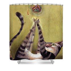 Oh Boy Shower Curtain by Barbara Hranilovich
