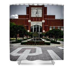 Oklahoma Memorial Stadium Shower Curtain by Center For Teaching Excellence
